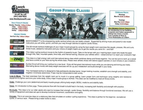 Group Exercise Class Descriptions
