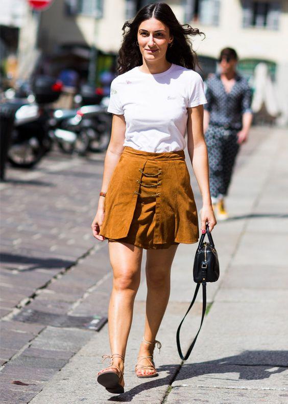 giulia tordini saia suede camiseta branca: