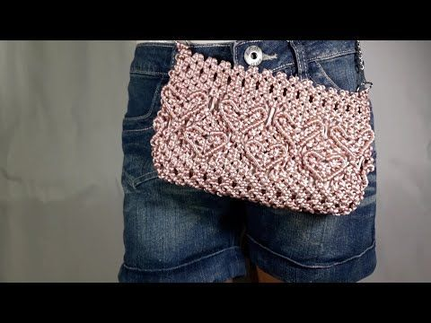 Slim Fit Jeans Fur Damen Macrame Bag Love Heart Macrame