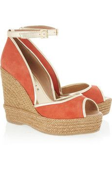 Suede wedge sandals by Paloma Barceló