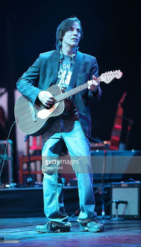 Jackson Browne performs at Day 2 of The Cornbury Music Festival at Cornbury Estate on July 4, 2010 in Oxford, England.