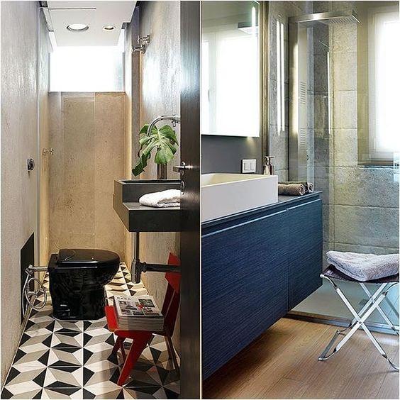 12 belos detalhes em #banheiros e #lavabos pequenos No #SimplesDecoração !  Link no perfil