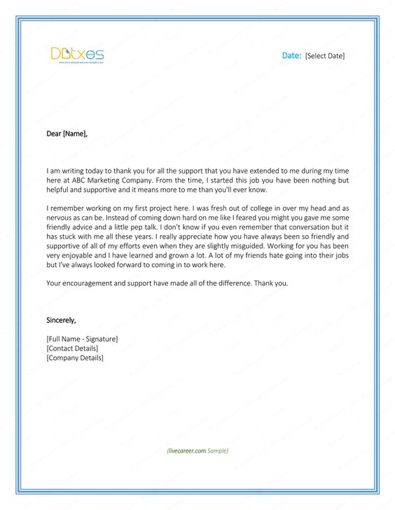 thank you letter employer download free samples and templates - immediate resignation letter sample