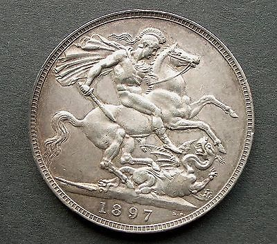 #British - 1897 lxi  victoria #crown - good #grade - (574),  View more on the LINK: http://www.zeppy.io/product/gb/2/351733049430/