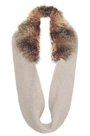 Next - Cream Faux Fur Trim Snood 877-486 Ј22: