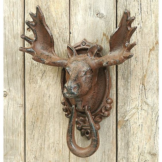 Door Knockers Moose And Doors On Pinterest
