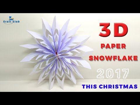 47++ Diy 3d paper snowflake christmas ornament trends