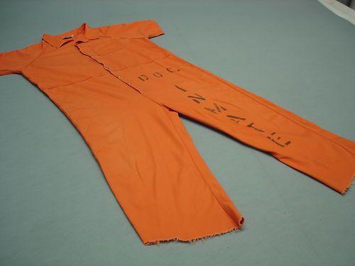 Inmate Jail Prisoner Convict Costume Orange Jumpsuit 3XL ...