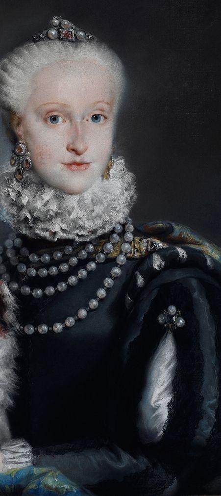 L Tiépolo 1763 LA INFANTA MARÍA JOSEFA CARMELA DE BORBÓN Y SAJONIA PRINCESA DE NÁPOLES Y SICILIA HIJA DE CARLOS VII DE NÁPOLES III DE ESPAÑA: