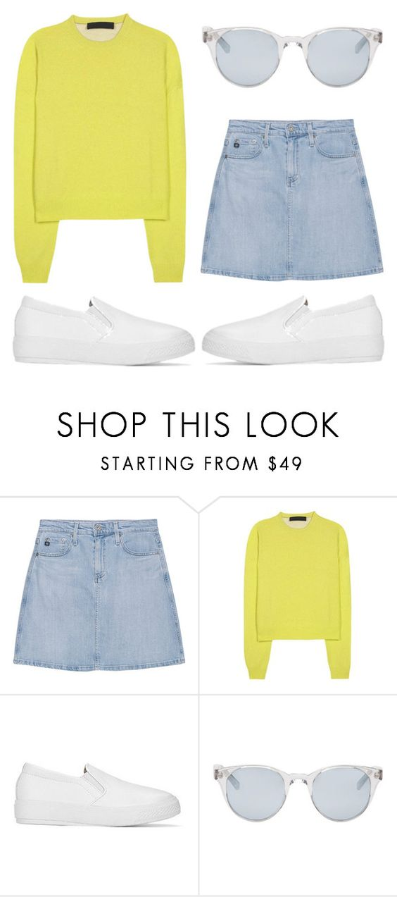 """""""~"""" by amarantos-xin ❤ liked on Polyvore featuring AG Adriano Goldschmied, Haider Ackermann and Sun Buddies"""