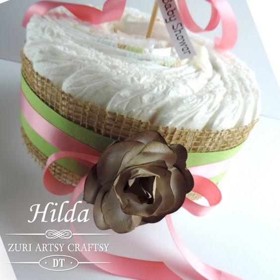 Hilda Designs: Reto #12 en ZAC: Baby Shower, Baby bath de Zuri Artsy Craftsy