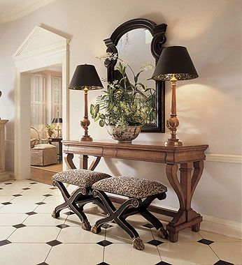 Stunning entry...furniture by Century
