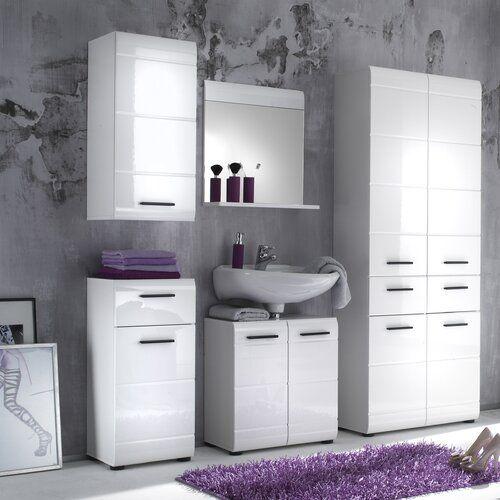 Bel Etage Reflect 6 Piece Bathroom Furniture Set With Mirror