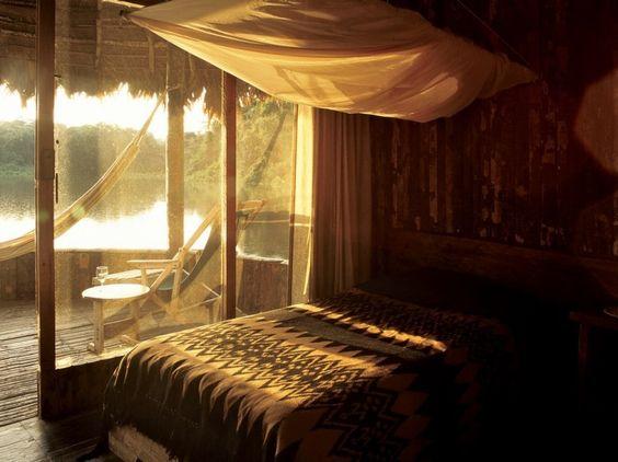 Kapawi Ecolodge & Reserve, Kapawi, Ecuador. #ecolodge #architecture #design #travel #getaway #rtw #yolo #resort #hotel #vacation