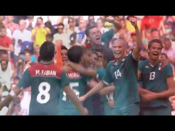 Después del 1 er gol de Oribe.