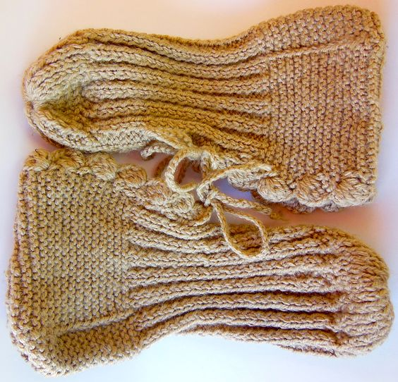 Sapato em tricô feito por Lulu