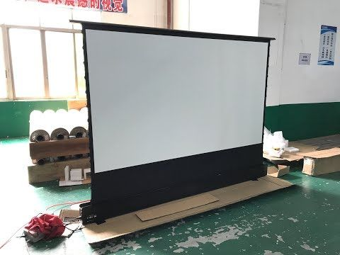 120 Inch Home Theater Electric Floor Rising Projector Screen Youtube In 2020 Projector Screen Projector Wall Best Projector Screen