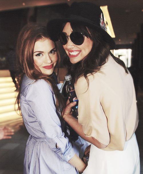 Holland Roden and Crystal Reed