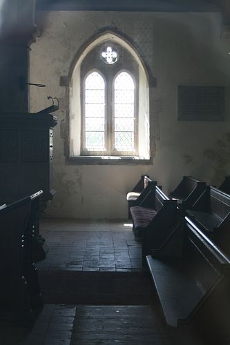Inside a small Chapel in England