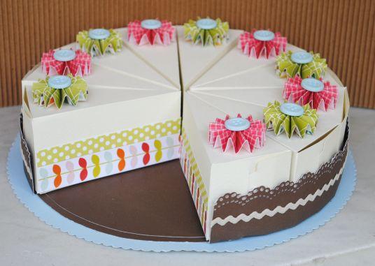 Caixas de lembrancinhas em formato de fatias de bolo! Acesse…