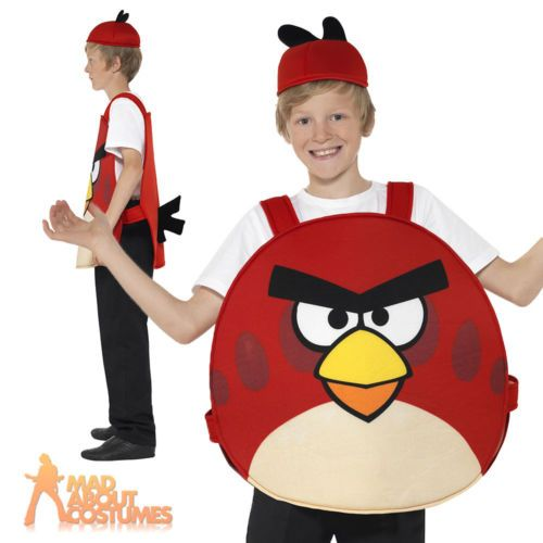 #Child angry birds red kids boys girls #licensed #fancy dress costume new, View more on the LINK: http://www.zeppy.io/product/gb/2/161786089833/