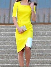 Women's Elegant Colors Splicing Dress – USD $ 56.69