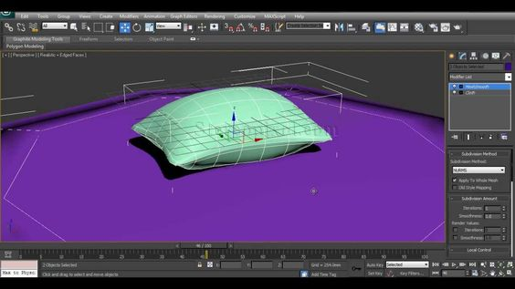 How to create 3D Pillow in Autodesk 3Ds Max