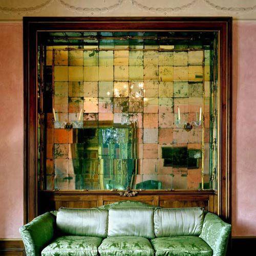 Antique Mirror Tiles Green Home Decor Home Design Magazines Green Interiors
