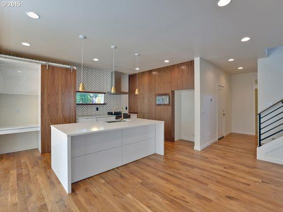Wood + Tile in kitchen