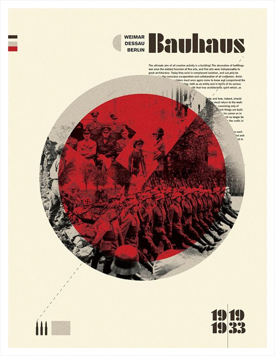 bauhaus history of design essay Architecture and design should reflect the new period in history, and adapt to the  era of the machine was one founding principal of the bauhaus school students.