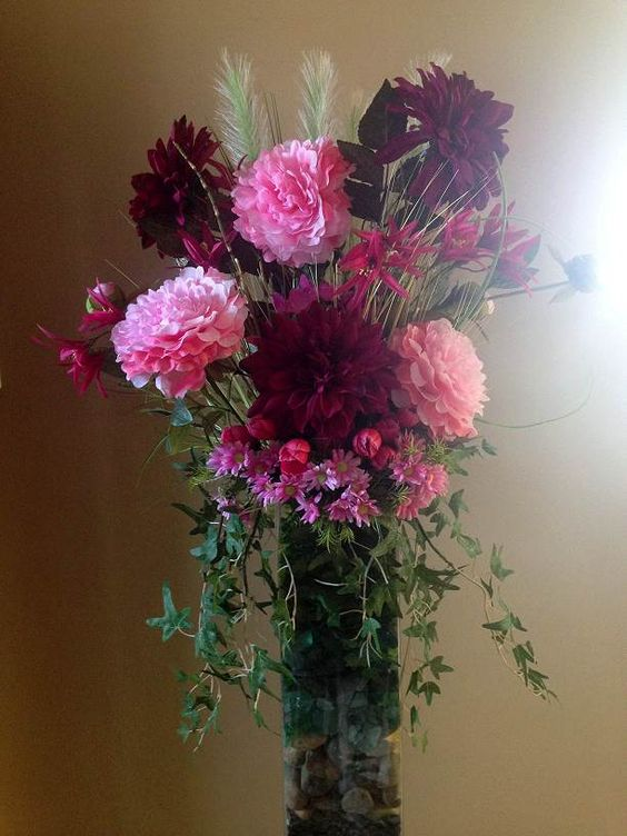 Peonies and wild grasses $200