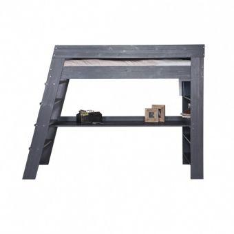 Trend Hochbett JULI mit Schreibtisch und Regal Holz Kiefer grau xcm g nstig online kaufen Dannenfelser Kinderm bel Kinderzimmer Pinterest