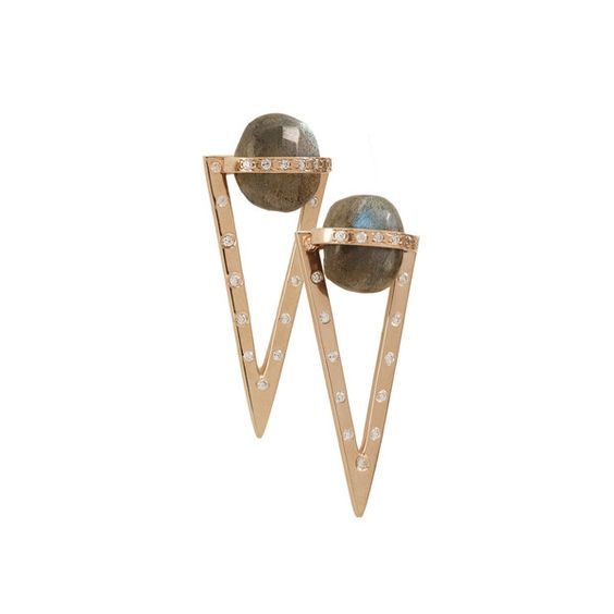Labradorite Triangle 3-in1 Earrings | Didi Jewellery