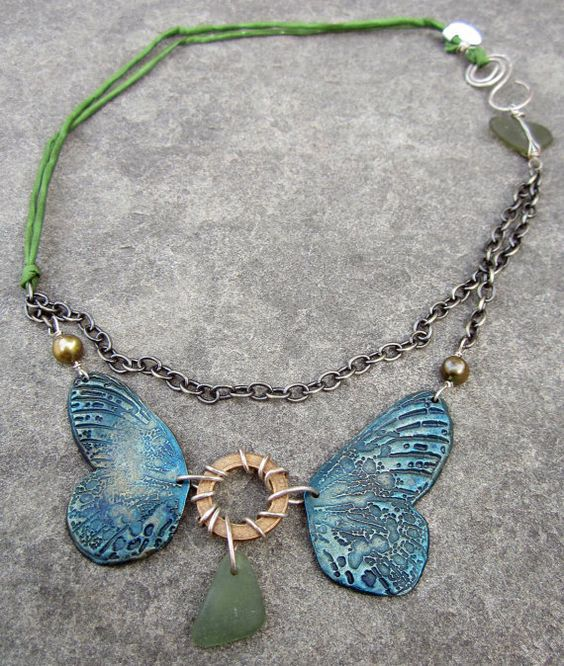 Look at this amazing Necklace called Sea and Sky Necklace by stacilouise on Etsy. It is quite a beautiful statement piece for your wardrobe!