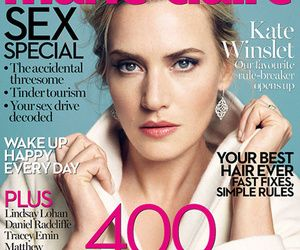 """Kate Winslet Reveals If She Ever """"Snogged"""" Leonardo DiCaprio - See more at: http://www.toofab.com/2014/10/03/kate-winslet-leonardo-dicaprio-marie-claire-uk/"""