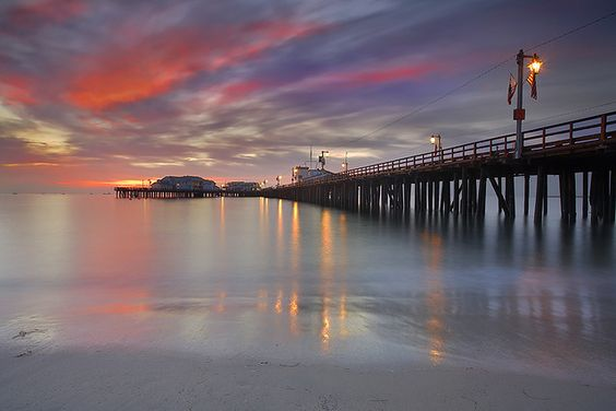 Santa Barbara, CA. Possibly one of the places I feel most at home in the world. This in particular is a picture of the pier during a sunrise. I spent many a weekend there growing up.