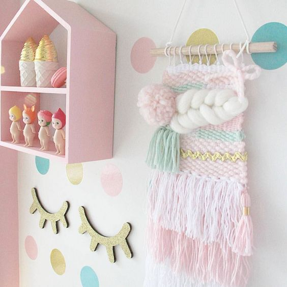A beautiful pic of our Dreamy Weave Wall Hanging! It looks right at home  Happy Hump Day x Photo credit @p.a.s.t.e.l_haven  #weave #tapestry #wool #decor #decorate #decorforkids #kids #kidsinspo #kidsroom #kidsinterior #girl #girlsroom #supportlocal #supporthandmade #supportthemakers #supportlocalbusiness #supportsmallbusiness #nursery #nurserydecor #pastel #pink #green #white #wallart #walldecor #wallhanging by loveariarose