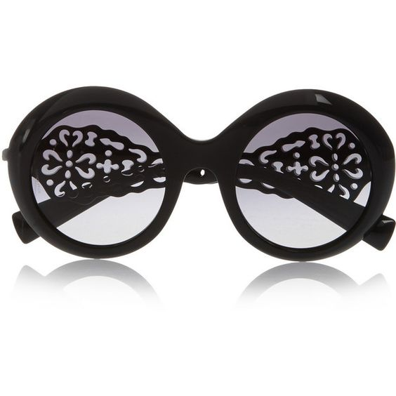 Dolce & Gabbana Round-frame acetate sunglasses, Women's (¥53,485) ❤ liked on Polyvore featuring accessories, eyewear, sunglasses, black, acetate sunglasses, black glasses, black round sunglasses, retro style sunglasses and round frame sunglasses