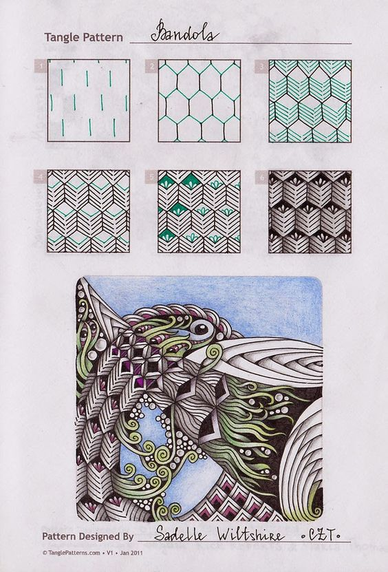 Zentangle doodles how to tangle pattern tutorial for Doodle tutorial