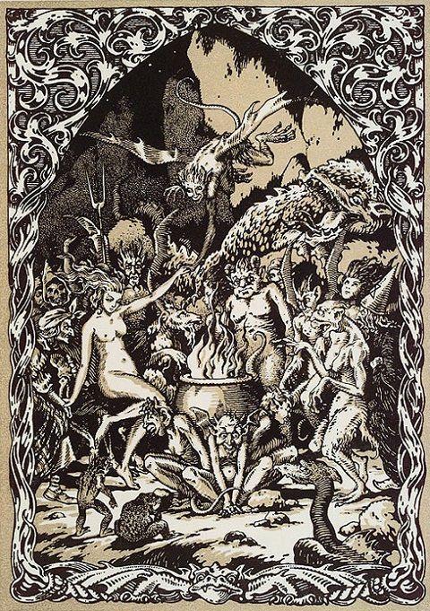 Bernard Zuber - Sorcières, nymmphes, démons... dansant autour d'un chaudron