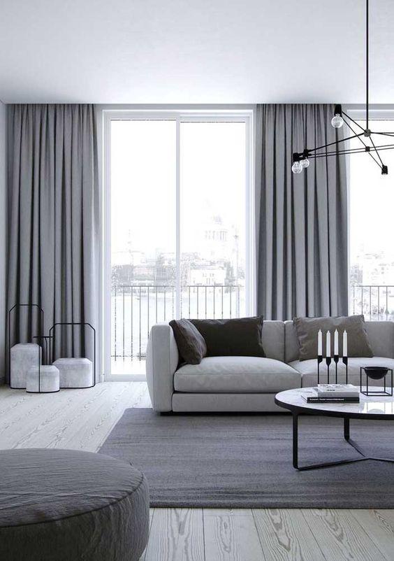 Sala cinza: veja soluções e ideias incríveis para acertar na decoração - Ideias Decor