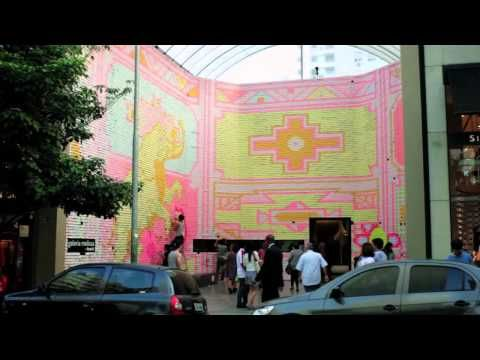 Such beauty: Stop-motion animation created using 350 thousand Post-it® notes on the facade of the Galeria Melissa, in São Paulo, Brazil, to launch the Melissa Power of Love spring/summer 2012 collection.Twenty-five animators worked for 5 months to create this piece, that more than just a beautiful short film documented a surprise: more than 30 thousand spontaneous love messages left by Melissa fans and visitors. That's the power of love that Melissa creates.