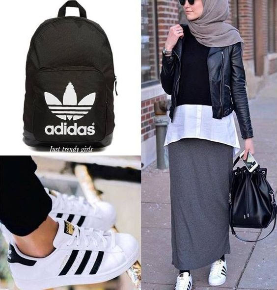 adidas hijab style sporty hijab street style. Black Bedroom Furniture Sets. Home Design Ideas