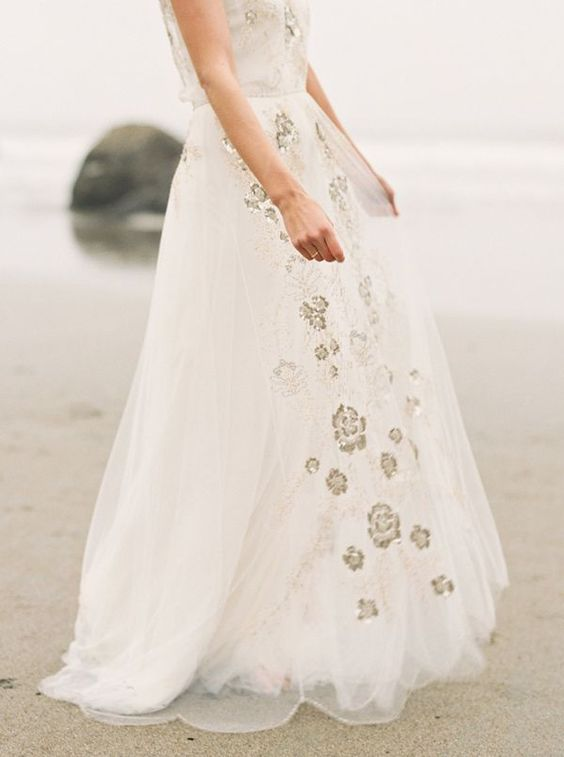 embellished wedding gown