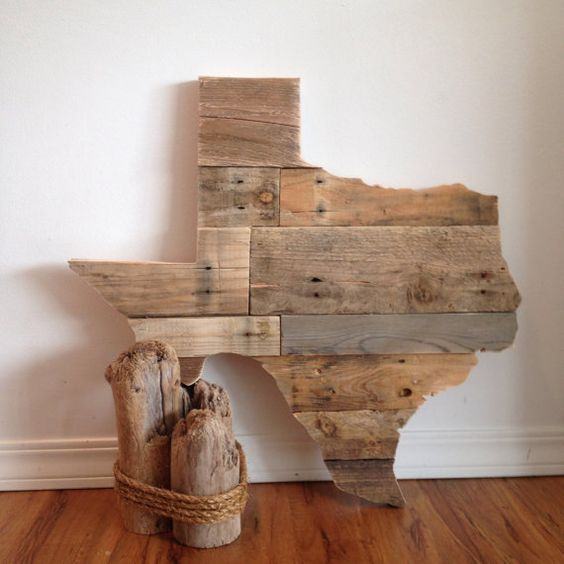 Texas state reclaimed pallet wood wall art 28 by HarborAndHome love it for  Payson! - Reclaimed Wood Texas Sign The Shape, Shape And Signs