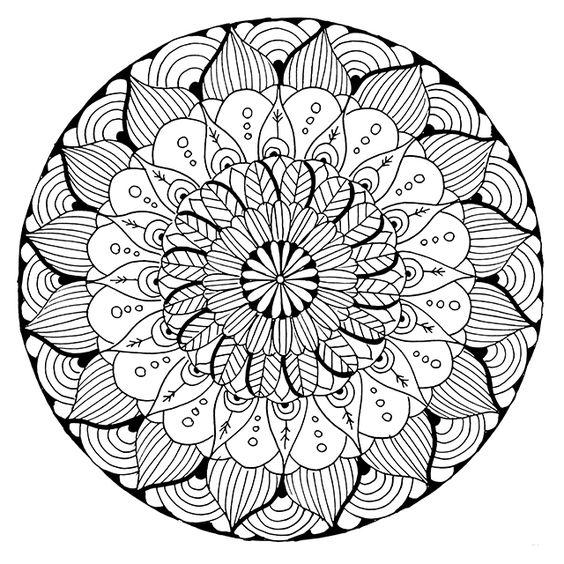 ԑ̮̑♢̮̑ɜ~Mandala para Colorear~ԑ̮̑♢̮̑ɜ   Mandala   Pinterest ...