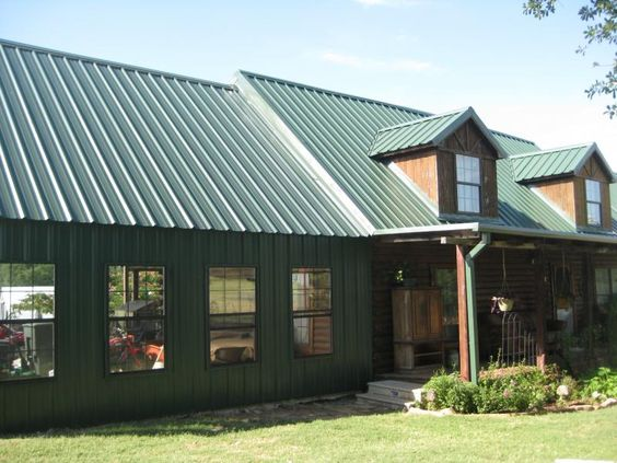 Metal buildings metal building homes pinterest metal for Metal building cabin