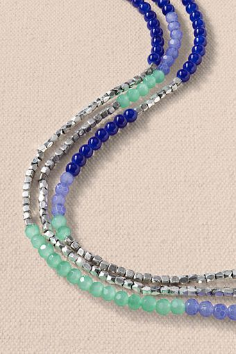 Women's Triple Strand Necklace from Lands' End