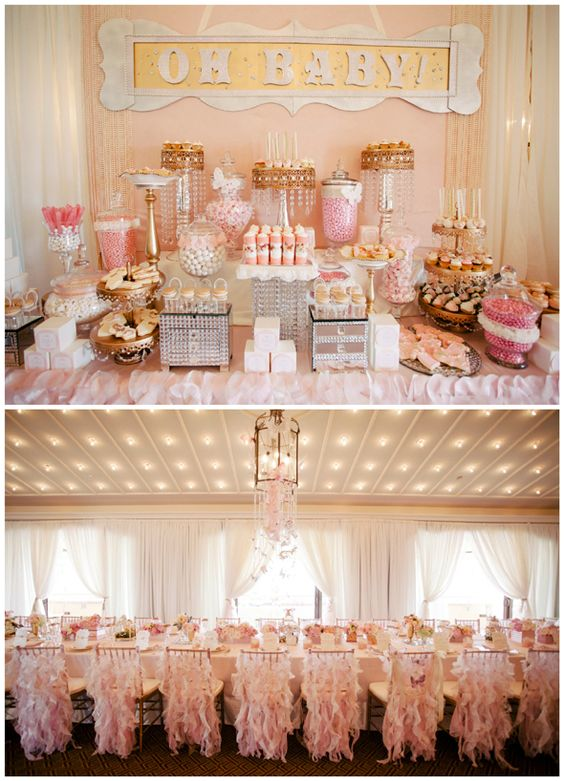 Whimsical Pink and Gold Baby Shower - Pretty My Party: