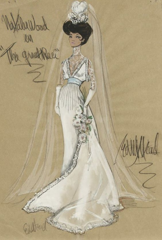 Edith Head costume design for Natalie Wood in The Great Race.